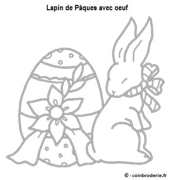 20170331 - Lapin de Paques avec oeuf - coinbroderie.fr