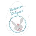 Fichier à broder gratuit :Tapis de tasse Joyeuses Pâques
