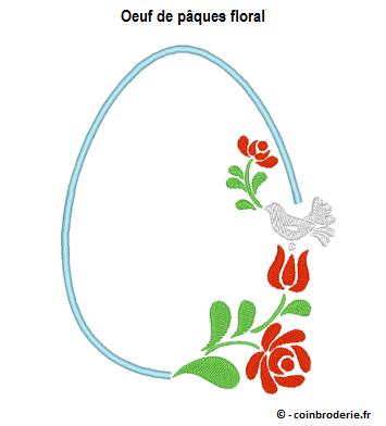 20170402 - Oeuf de pâques floral - coinbroderie.fr