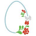 Fichier à broder gratuit :Oeuf de pâques floral