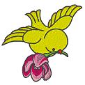 Fichier à broder gratuit :Poussin avec fleur