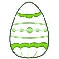 Fichier à broder gratuit :Oeuf de Pâques vert