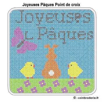 20170415 - Joyeuses Paques Point de croix - coinbroderie.fr