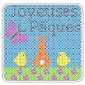 Fichier à broder gratuit :Joyeuses Pâques Point de croix