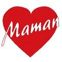 Fichier à broder gratuit :Coeur pour maman