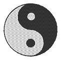 Fichier à broder gratuit :Yin et Yang