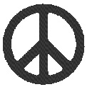 Fichier à broder gratuit :Symbole Peace