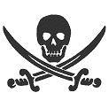 Fichier à broder gratuit :Pavillon du pirate Jack Rackham