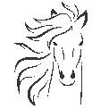 Fichier à broder gratuit :Tête de cheval