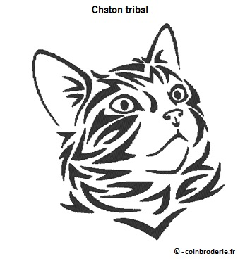 20170521 - Chaton tribal - coinbroderie.fr