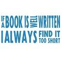 Fichier à broder gratuit :If a book is well written