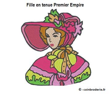 20170602 - Fille en tenue Premier Empire - coinbroderie.fr
