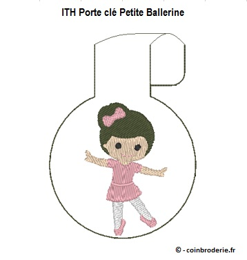 20170604 - ITH Porte cle Petite Ballerine - coinbroderie.fr