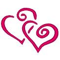 Fichier à broder gratuit :Coeurs entrelacés