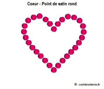 20170612 - Coeur - Point de satin rond - coinbroderie.fr