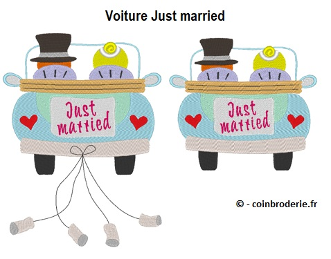 20170617 - Voiture Just married - coinbroderie.fr