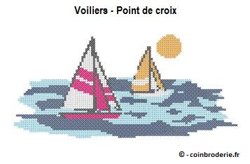 20170627 - Voiliers - Point de croix - coinbroderie.fr