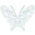 Fichier à broder gratuit :Papillon en lignes