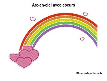20170709 - Arc-en-ciel avec coeurs - coinbroderie.fr
