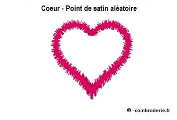 20170717 - Coeur - Point de satin aléatoire - coinbroderie.fr