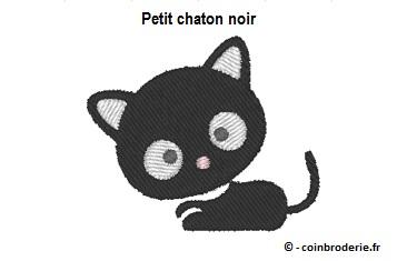 20170728 - Petit chaton noir - coinbroderie.fr