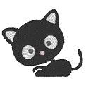Fichier à broder gratuit :Petit chaton noir