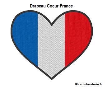 20170807 - Drapeau Coeur France - coinbroderie.fr