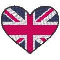 Fichier à broder gratuit :Drapeau Coeur Grande Bretagne