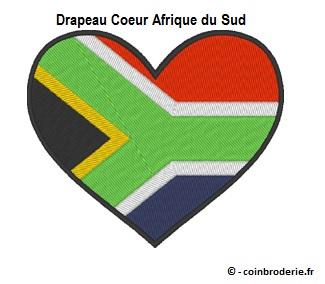 20170811 - Drapeau Coeur Afrique du Sud - coinbroderie.fr