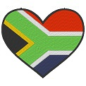 Fichier à broder gratuit :Drapeau Coeur Afrique du Sud
