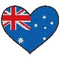 Fichier à broder gratuit :Drapeau Coeur Australie