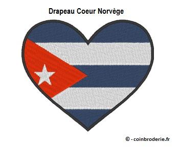 20170815 - Drapeau Coeur Cuba - coinbroderie.fr