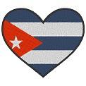Fichier à broder gratuit :Drapeau Coeur Cuba