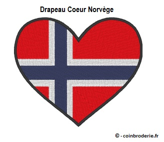 20170816 - Drapeau Coeur Norvege - coinbroderie.fr