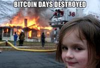 Bitcoin days destroyed 200