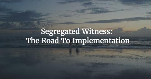 Segregated witness implementation 484