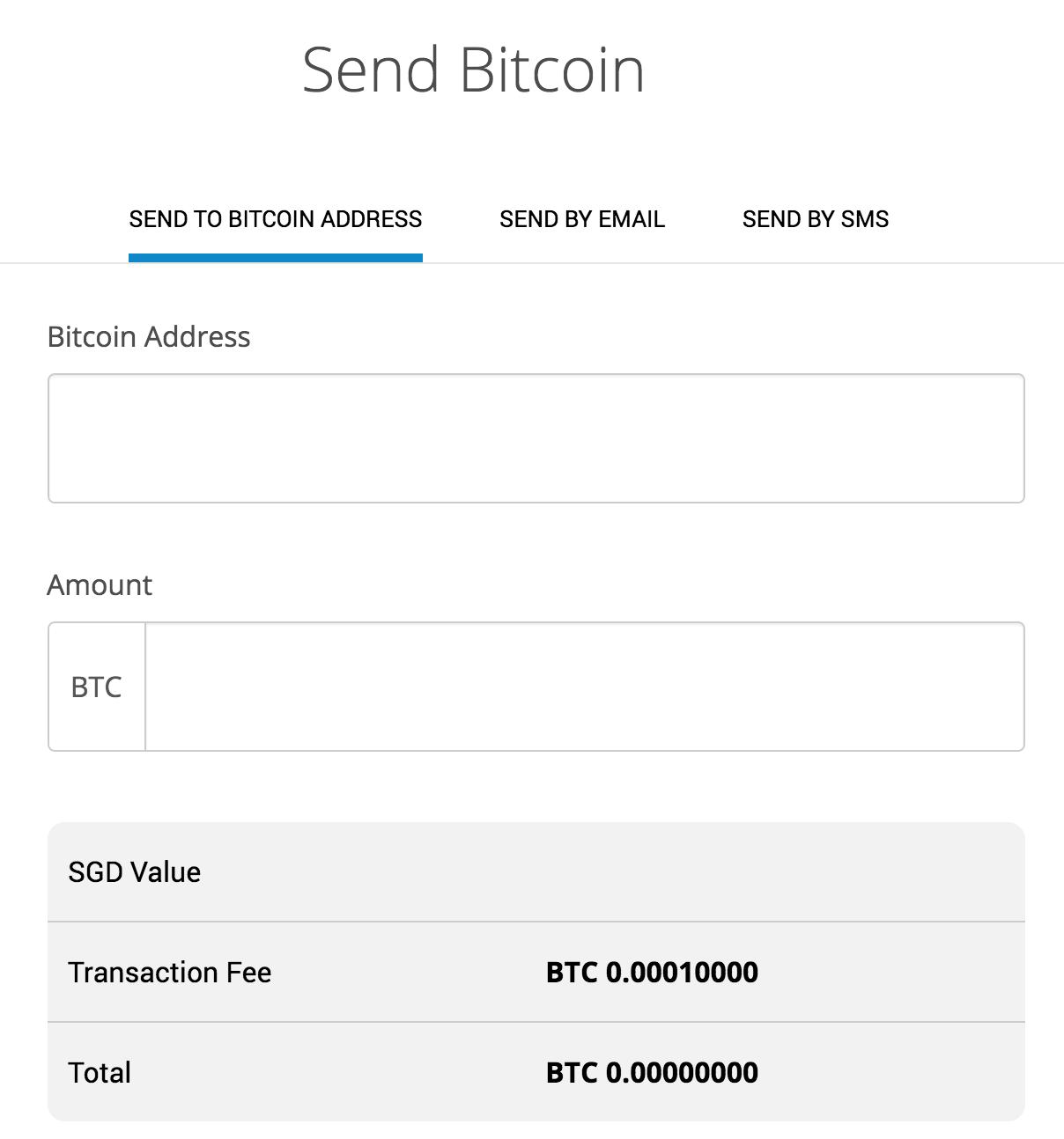 send bitcoins through coinhako to another bitcoin address