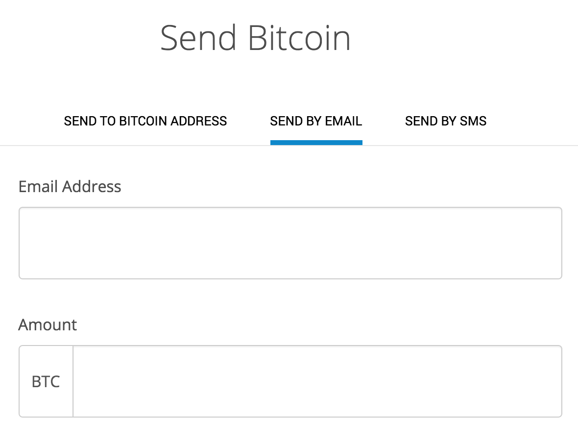 send bitcoins using email address