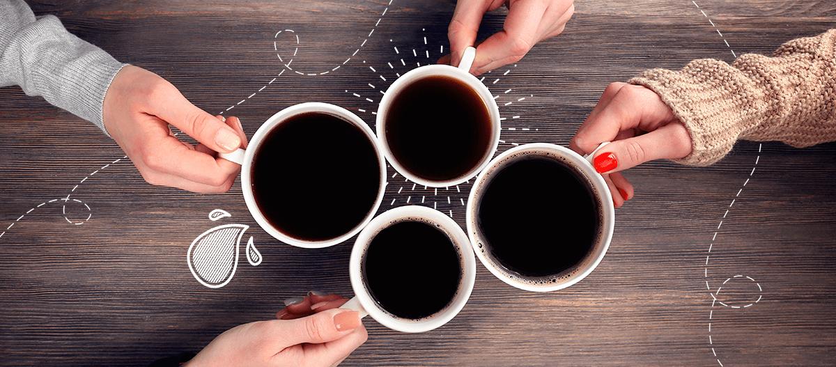 Cafe oscuro o claro destacada