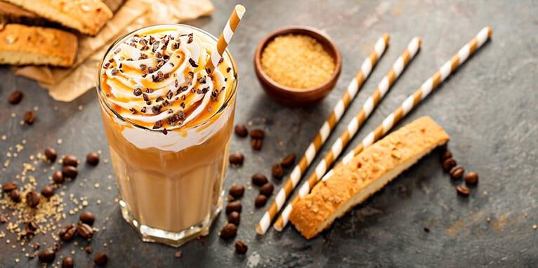 Malteada de café caramelo