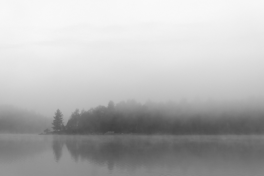 Adirondacks lake fog