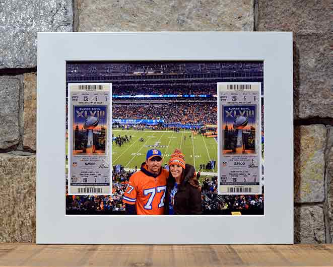 Michelle & Cory at Super Bowl XLVII - 8 x 10 Display