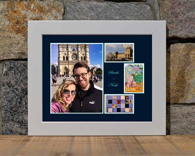 Noah and Sarah at Notre Dame Cathedral in Paris - 8 x 10 Display