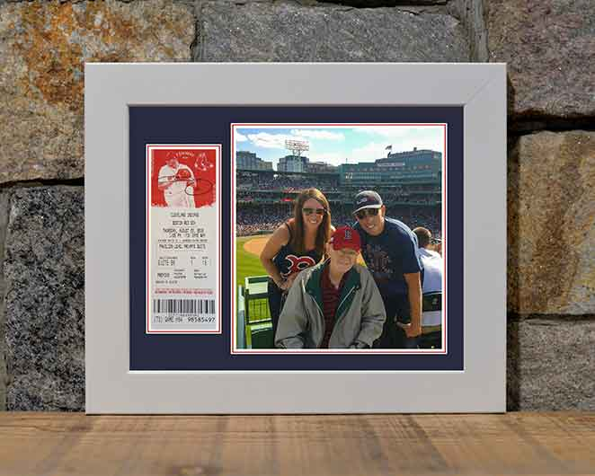 Sean & Family on the Green Monster - 8 x 10 Display