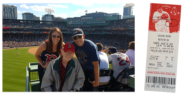 Red Sox Game on the Green Monster - Event Photo & Ticket