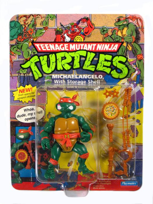 1991 Storage Shell Mike Flashlight Weapon TMNT Teenage Mutant Ninja Turtles