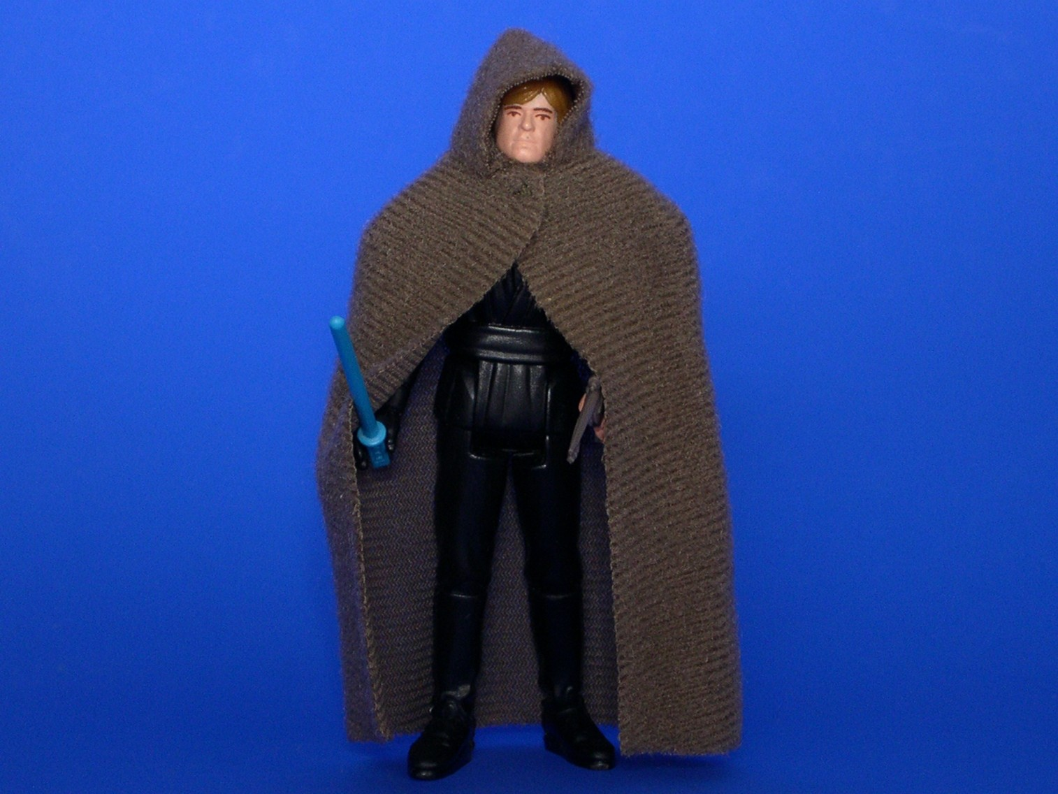 luke skywalker jedi knight outfit brown plastic head with painted