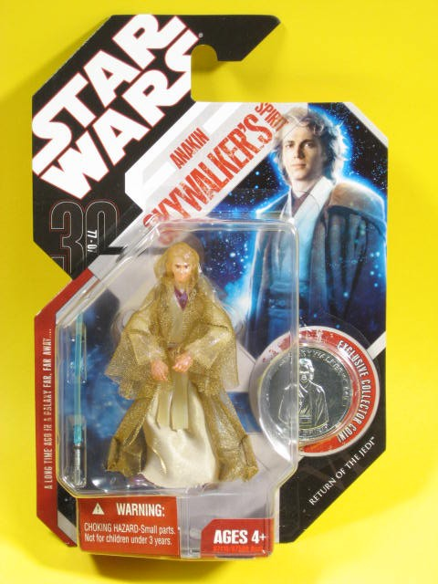 STAR WARS 30th ANNIVERSARY ANAKIN SKYWALKER/'S SPIRIT with SILVER COIN