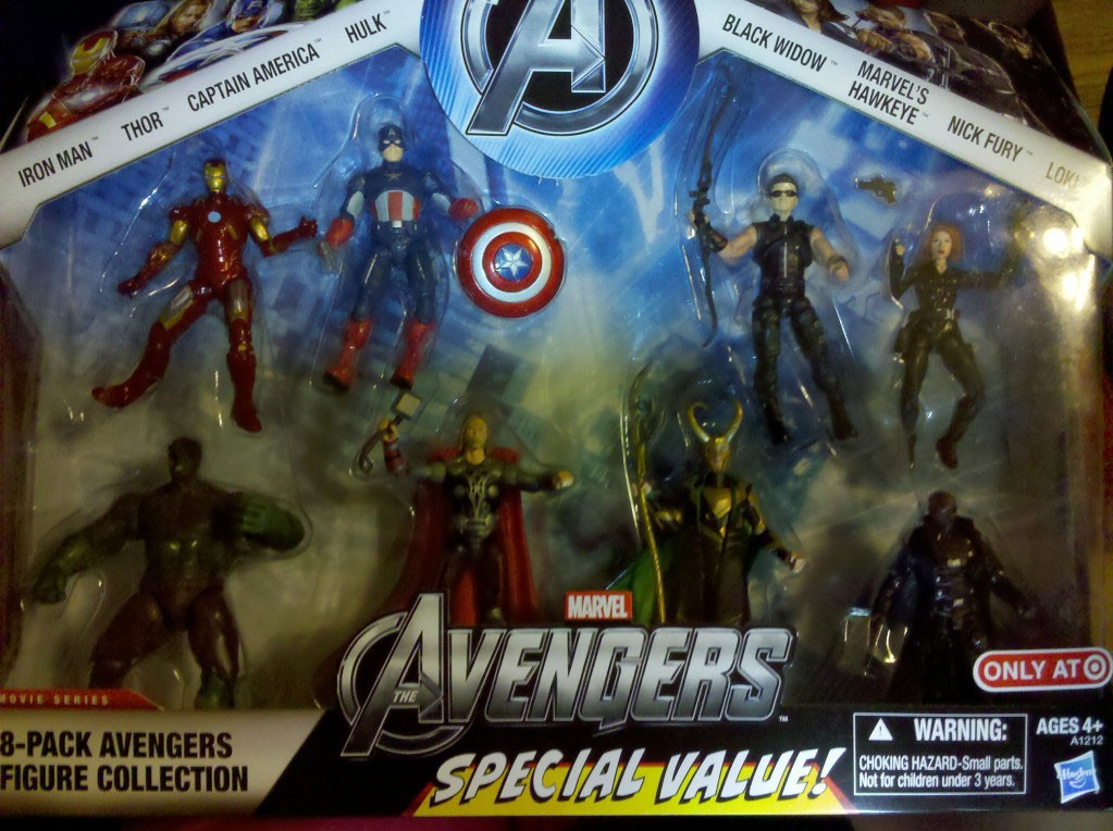 Avengers 8-Pack Avengers Figure Collection (Iron Man - Thor
