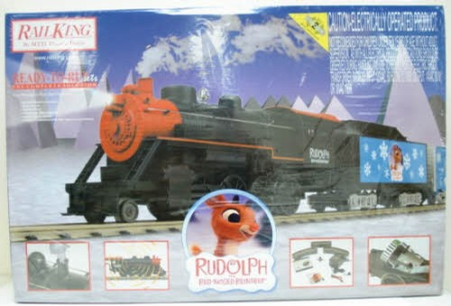 MTH 30-4173-1 Rudolph 2-8-0 Steam Rtr Train Set W/Ps2
